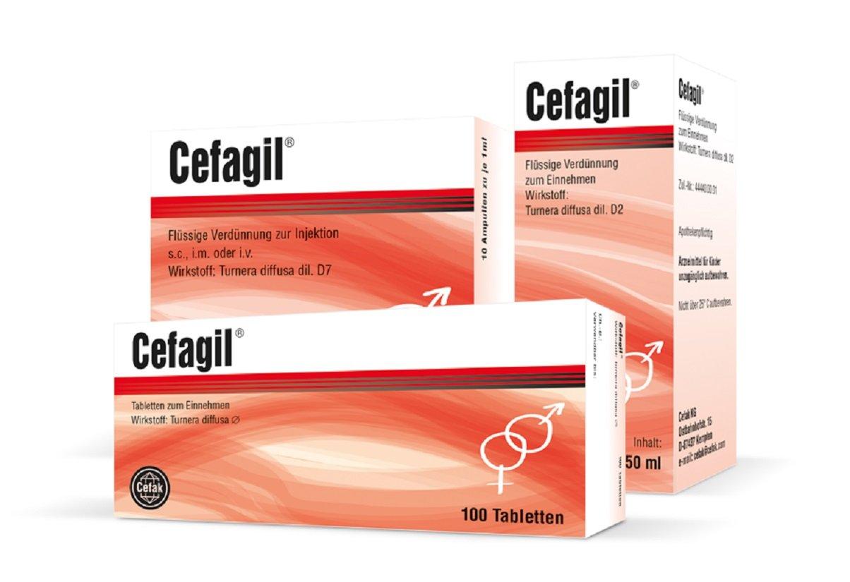 Das Potenzmittel Cefagil ist rezeptfrei und man kann es in jeder Apotheke kaufen