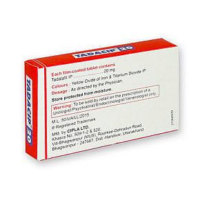 Tadacip 20 mg / 10 Tabletten